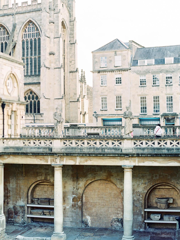 View of Bath Abbey at the Roman Baths in Bath England, Cavin Elizabeth Photography