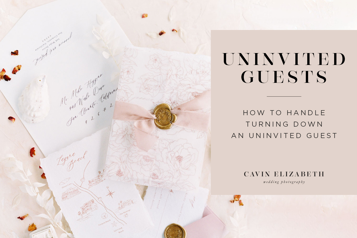 How to Handle the Uninvited Wedding Guest. What to do when someone invites themselves to your wedding and how to gently turn them down.
