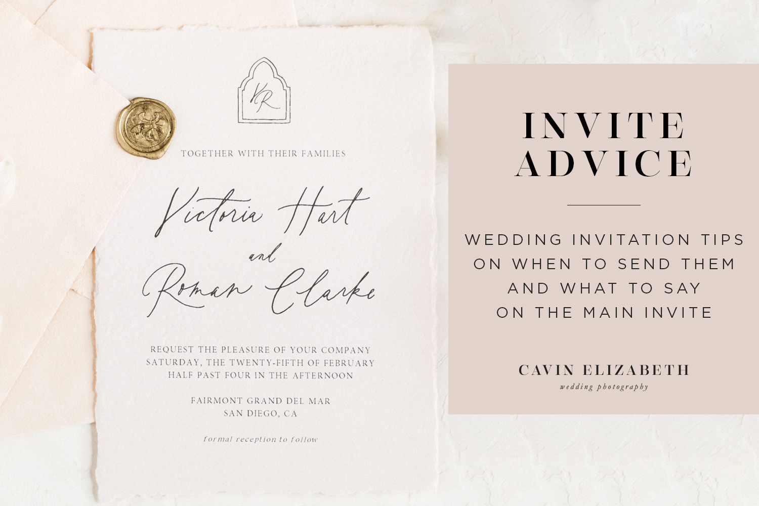 Wedding Invitation Tips + Advice on When to Send and What to Say