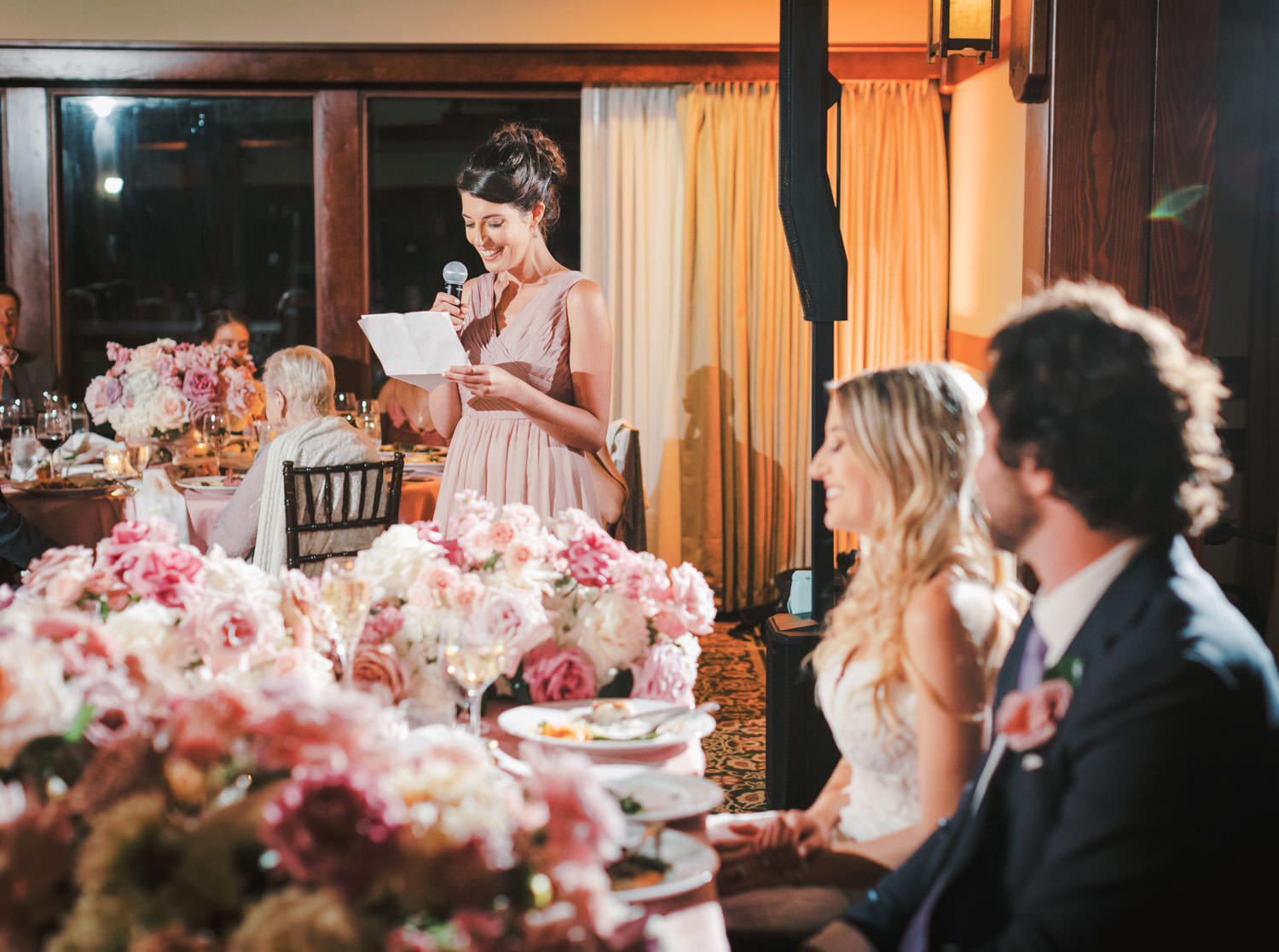 Toast for the bride and groom, The Lodge at Torrey Pines wedding, photography by Cavin Elizabeth Photography
