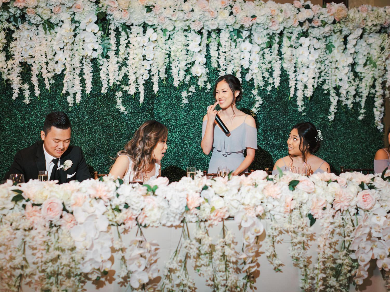 Wedding speech toasts at Rancho Bernardo Inn in the Aragon Ballroom. photo by Cavin Elizabeth Photography