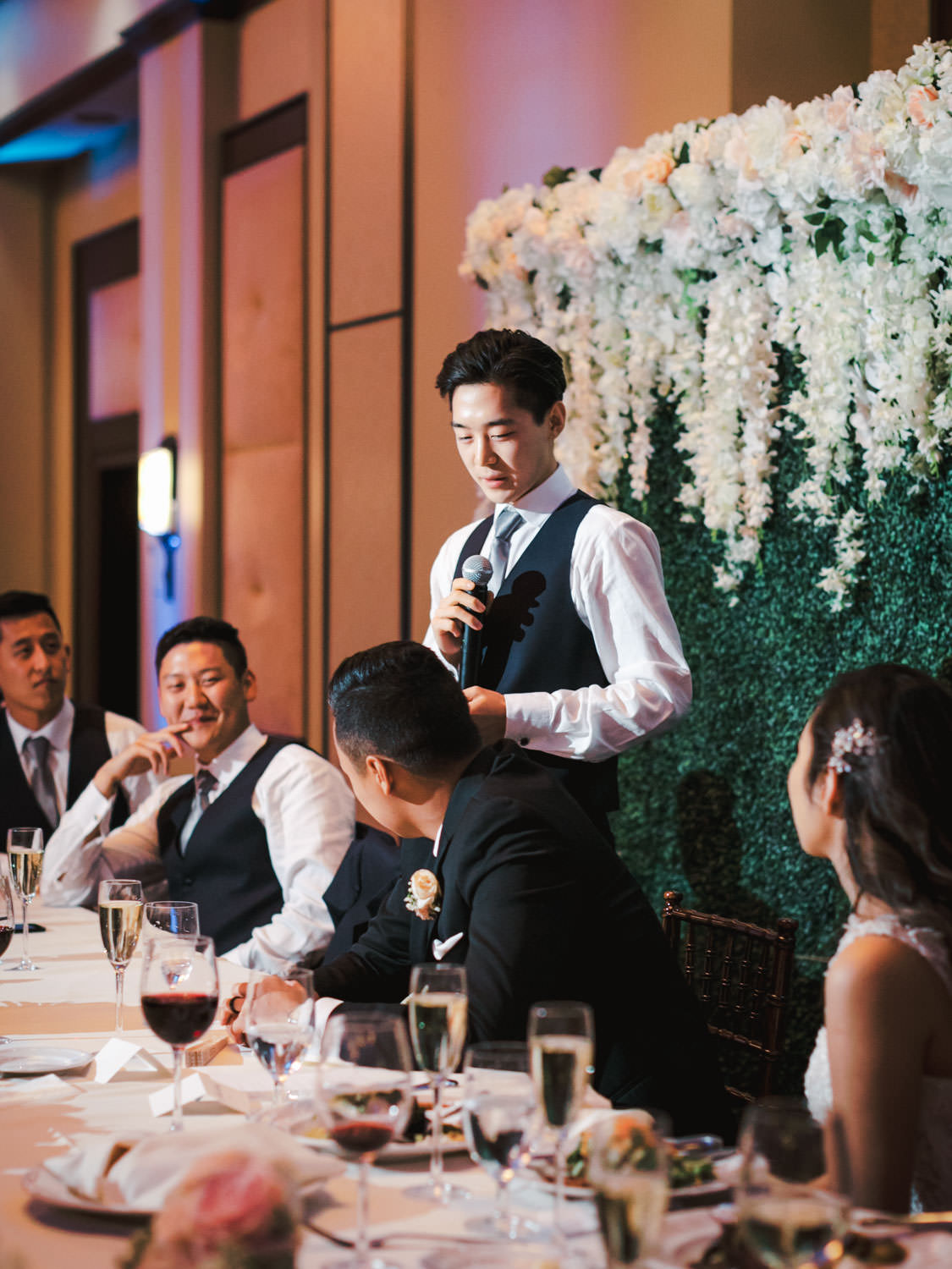 Wedding speech toasts at Rancho Bernardo Inn in the Aragon Ballroom. photo by Cavin Elizabeth Photography