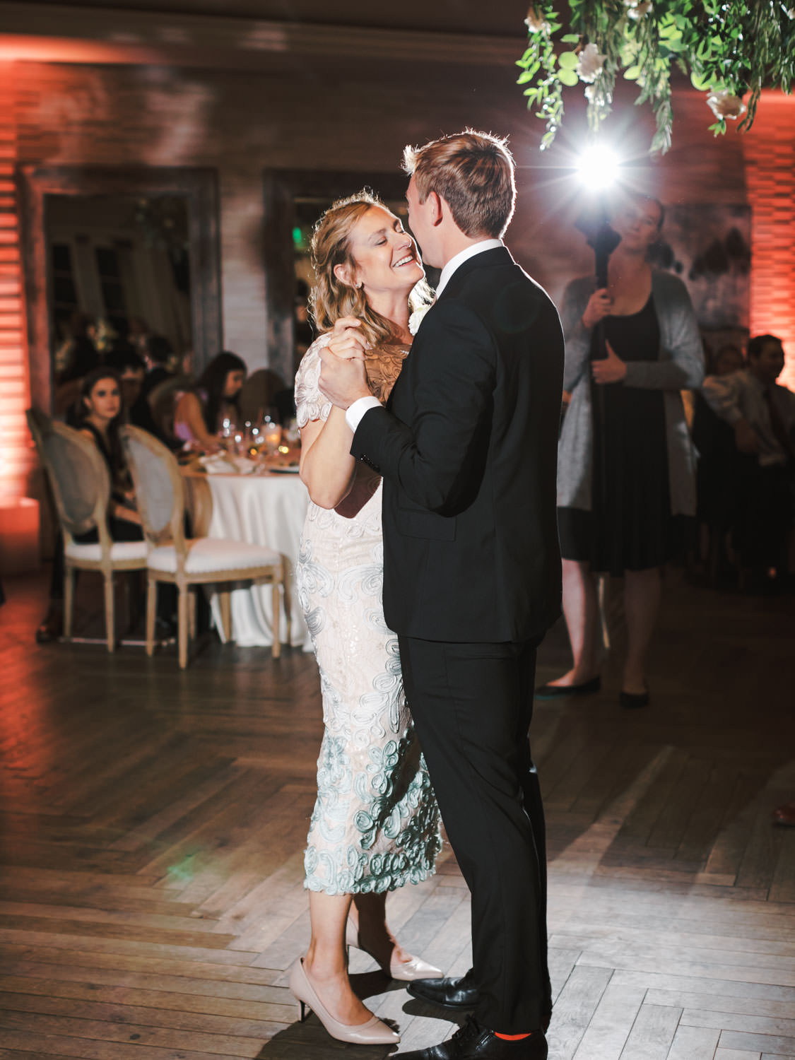 Mother son dance. Estancia La Jolla Grande Room reception by Cavin Elizabeth Photography