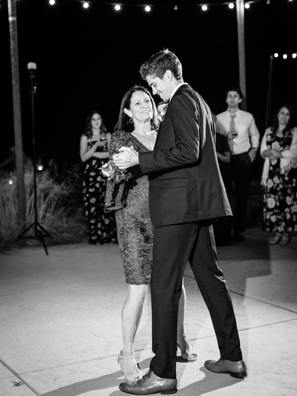 Mother son dance. Full Belly Farm reception by film photographer Cavin Elizabeth Photography