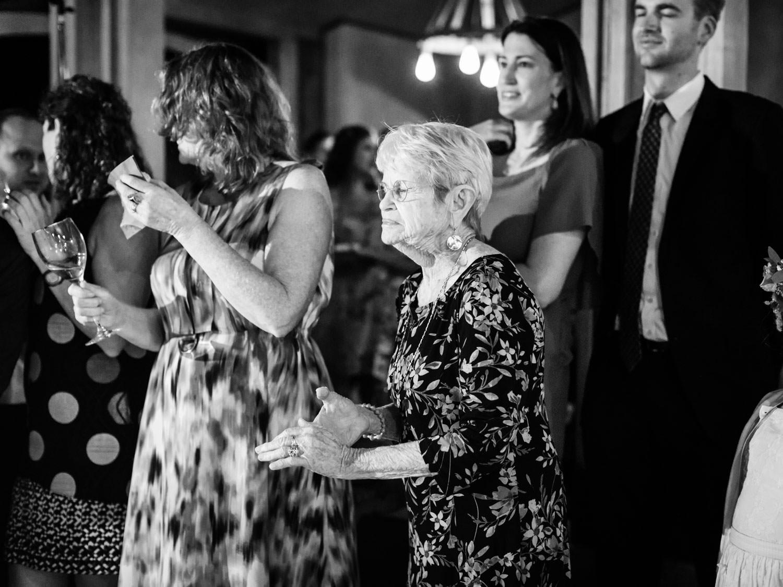 Grandma dancing at the wedding. Full Belly Farm reception by film photographer Cavin Elizabeth Photography