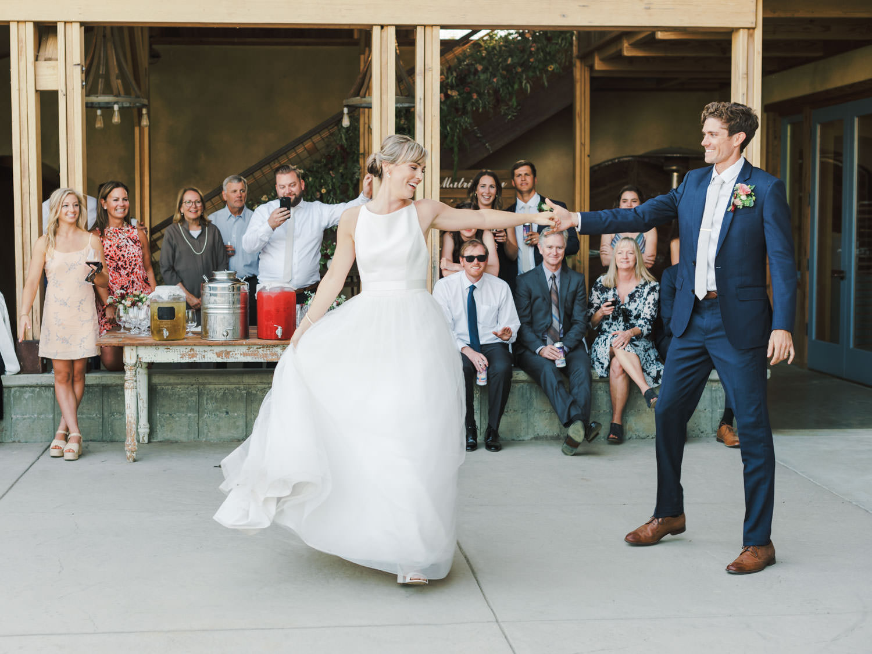 Bride and groom first dance. Full Belly Farm wedding reception by Cavin Elizabeth Photography