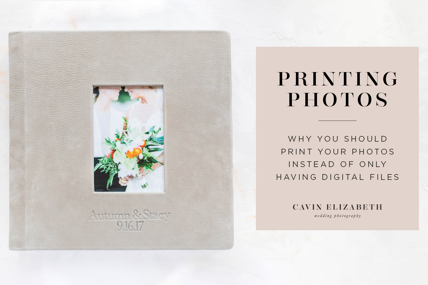 Print Your Wedding Photos | Why You Shouldn't Just Do Digital Files. Why having prints on your wall and an album on your coffee table are so much better than a file on your computer or phone.