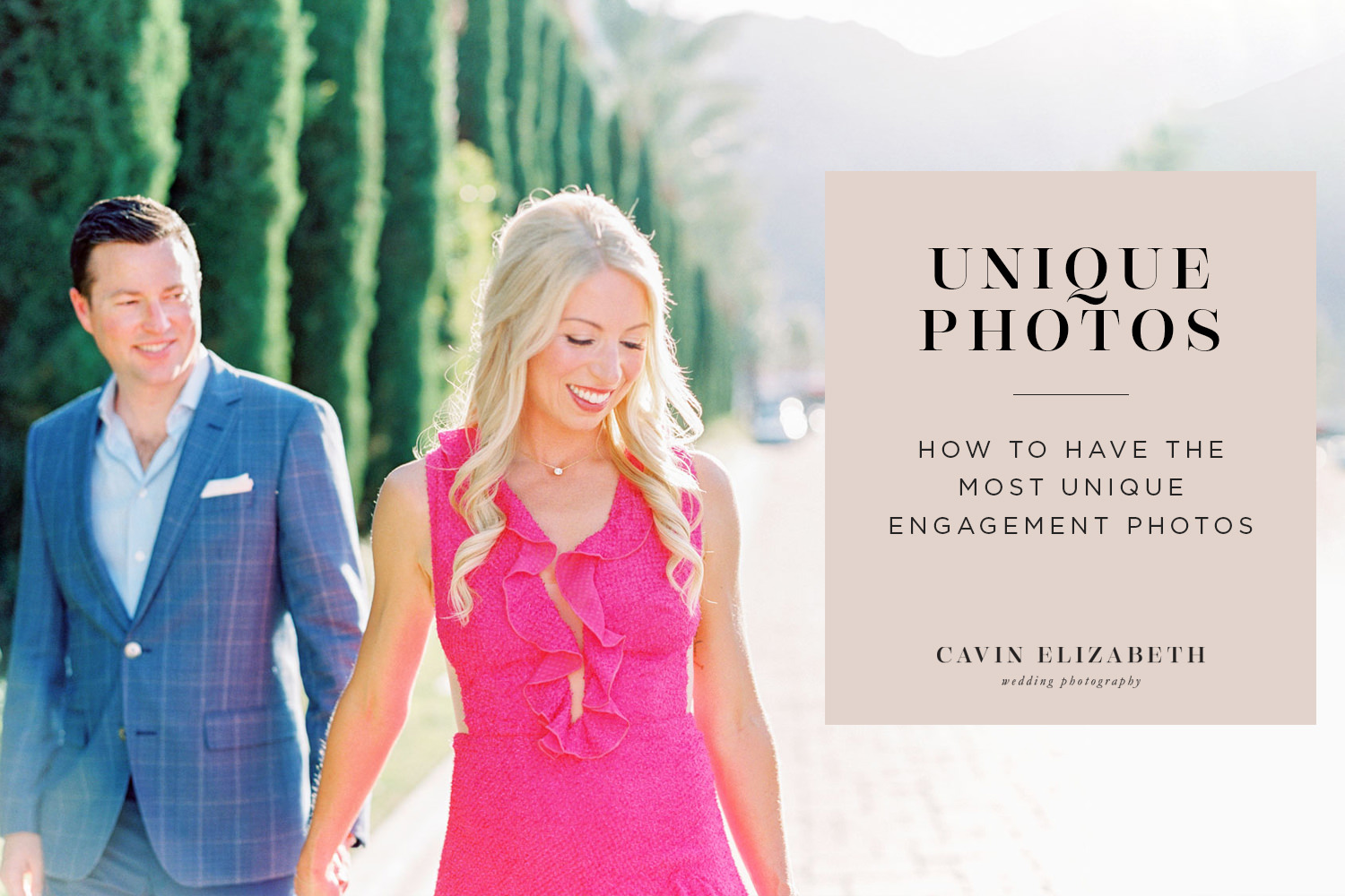 4 Expert Tips for the Most Unique Engagement Photos. How to have an engagement session that stands out from the crowd and is personalized and special to you.