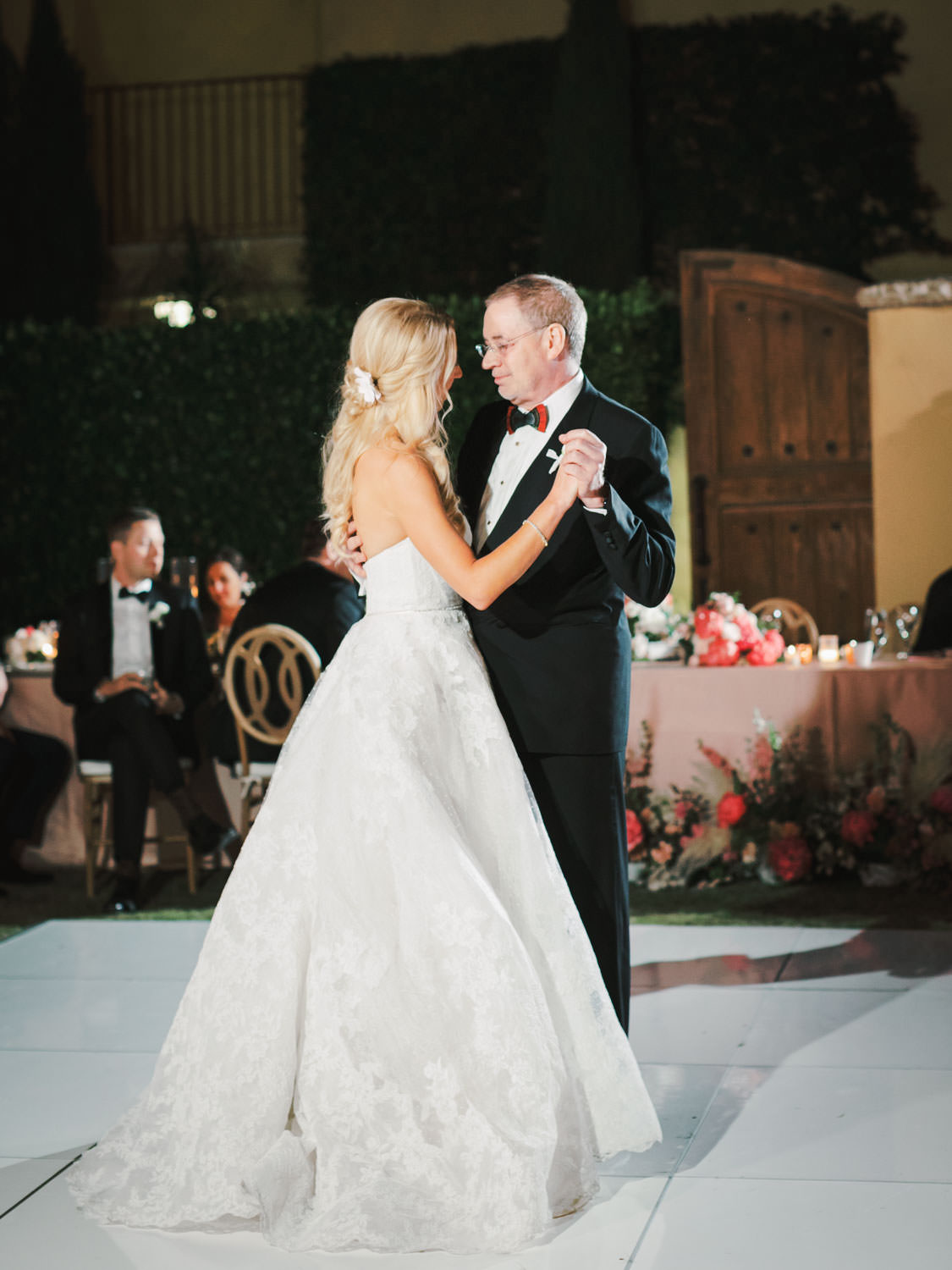 Father daughter dance. Miramonte Resort wedding reception. Photography by Cavin Elizabeth.