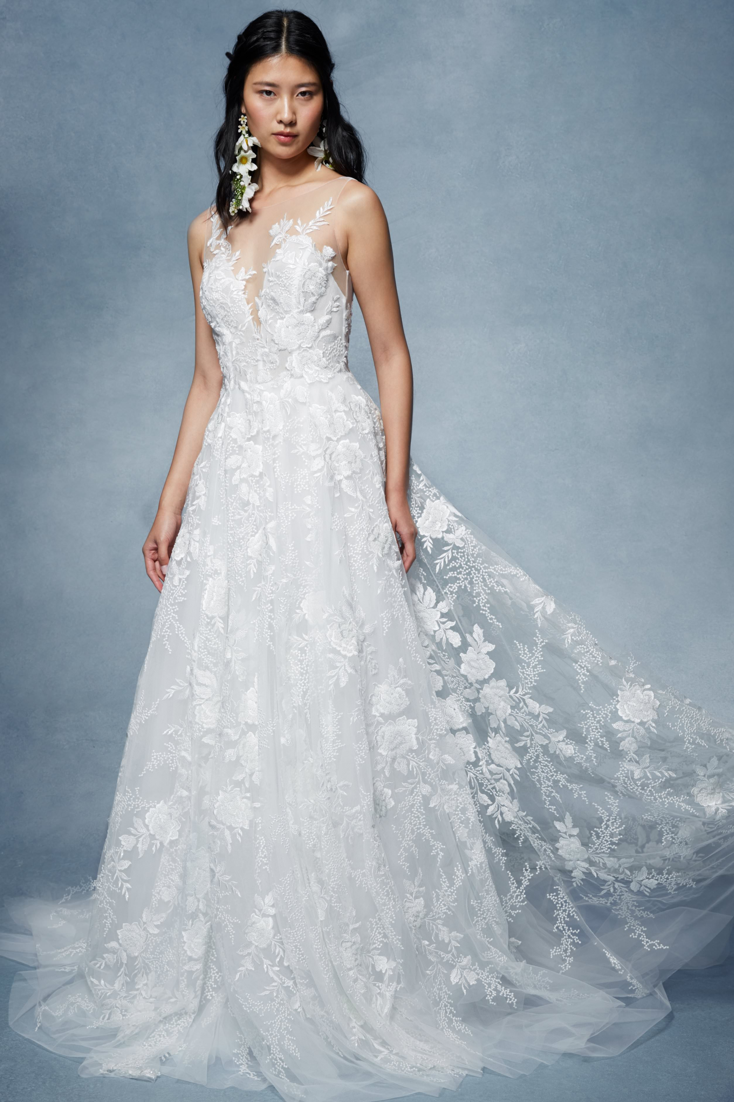 Sky by Marchesa Notte. Marchesa in San Diego at The White Flower BRidal Boutique.