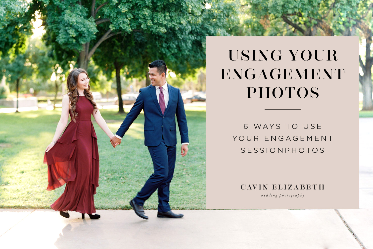 6 Great Ways to Use Engagement Photos for Your Home and Wedding