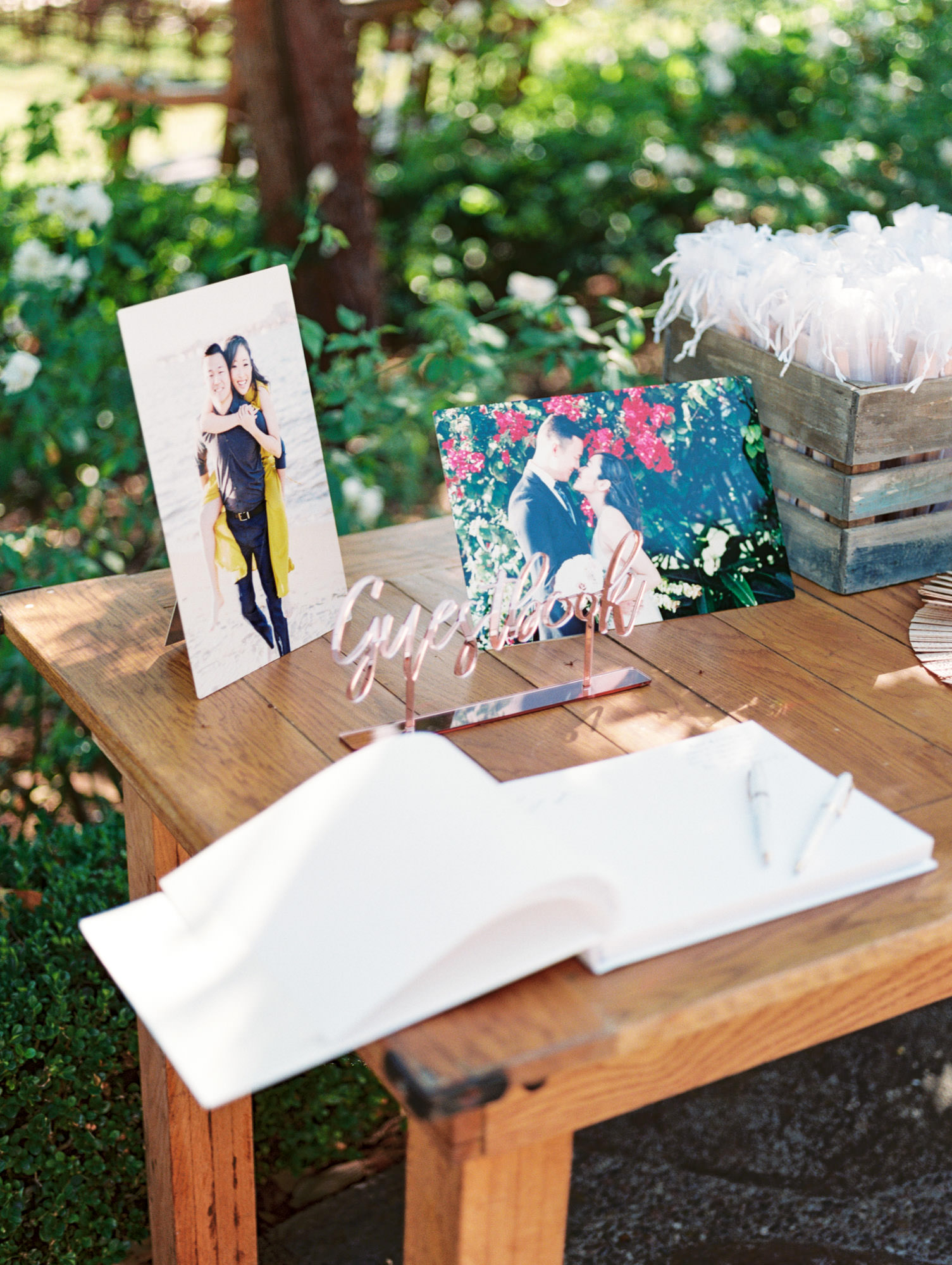 Using your engagement photos at the wedding sign in table. Cavin Elizabeth.
