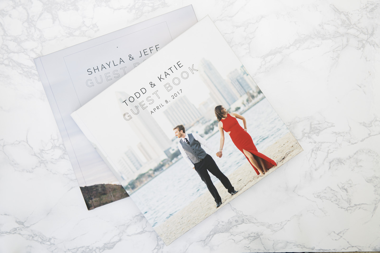 Guestbook with wedding photos