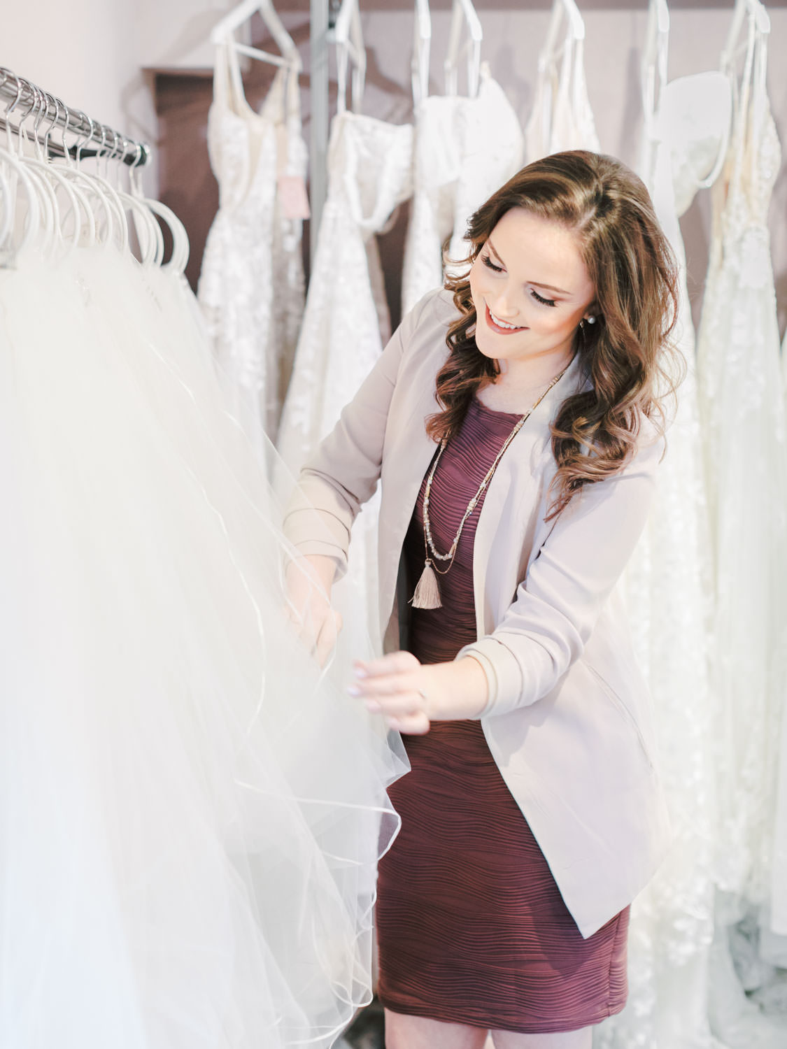 Behind the scenes of life as a San Diego bridal stylist at The White Flower Bridal Boutique. Cavin Elizabeth Photography