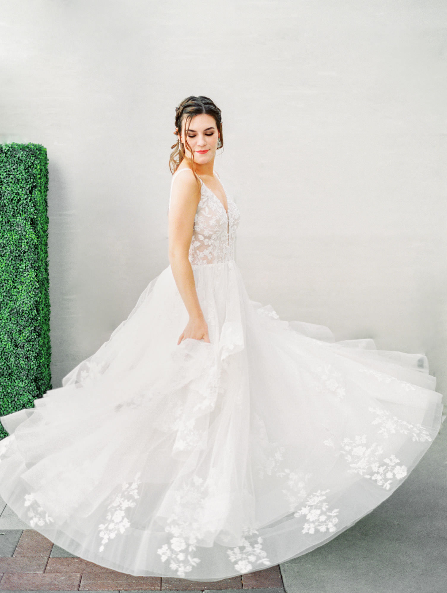1105 sleeveless ballgown with floral lace Martina Liana wedding dress in San Diego by Cavin Elizabeth - San Diego film photographer