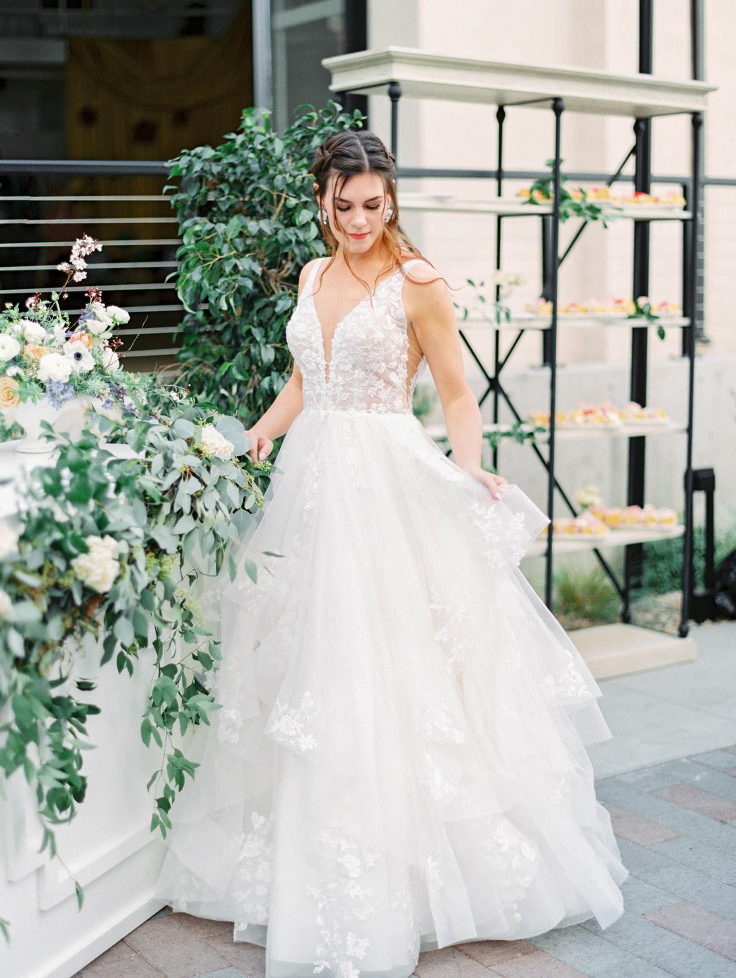 1105 sleeveless ballgown with floral lace Martina Liana wedding dress in San Diego by Cavin Elizabeth - San Diego film photographer. Wedding Fashion Inspiration.