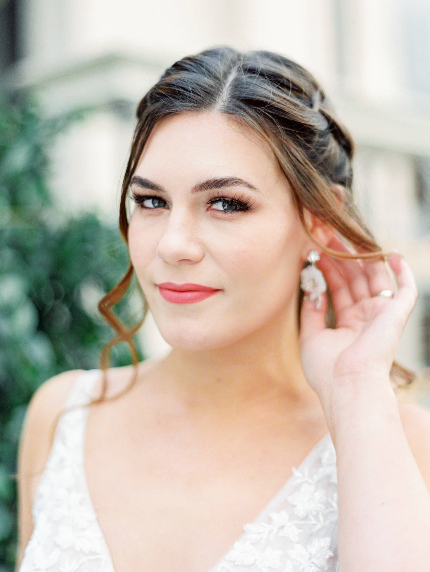 1137 sleeveless ballgown with floral lace Martina Liana wedding dress in San Diego by Cavin Elizabeth - San Diego film photographer