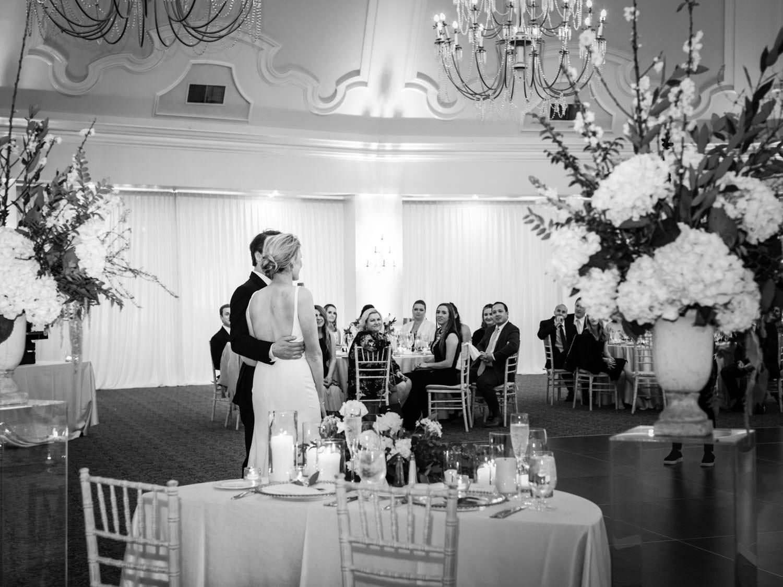 Bride and groom thank you speech. Hotel Del Wedding reception by Cavin Elizabeth.