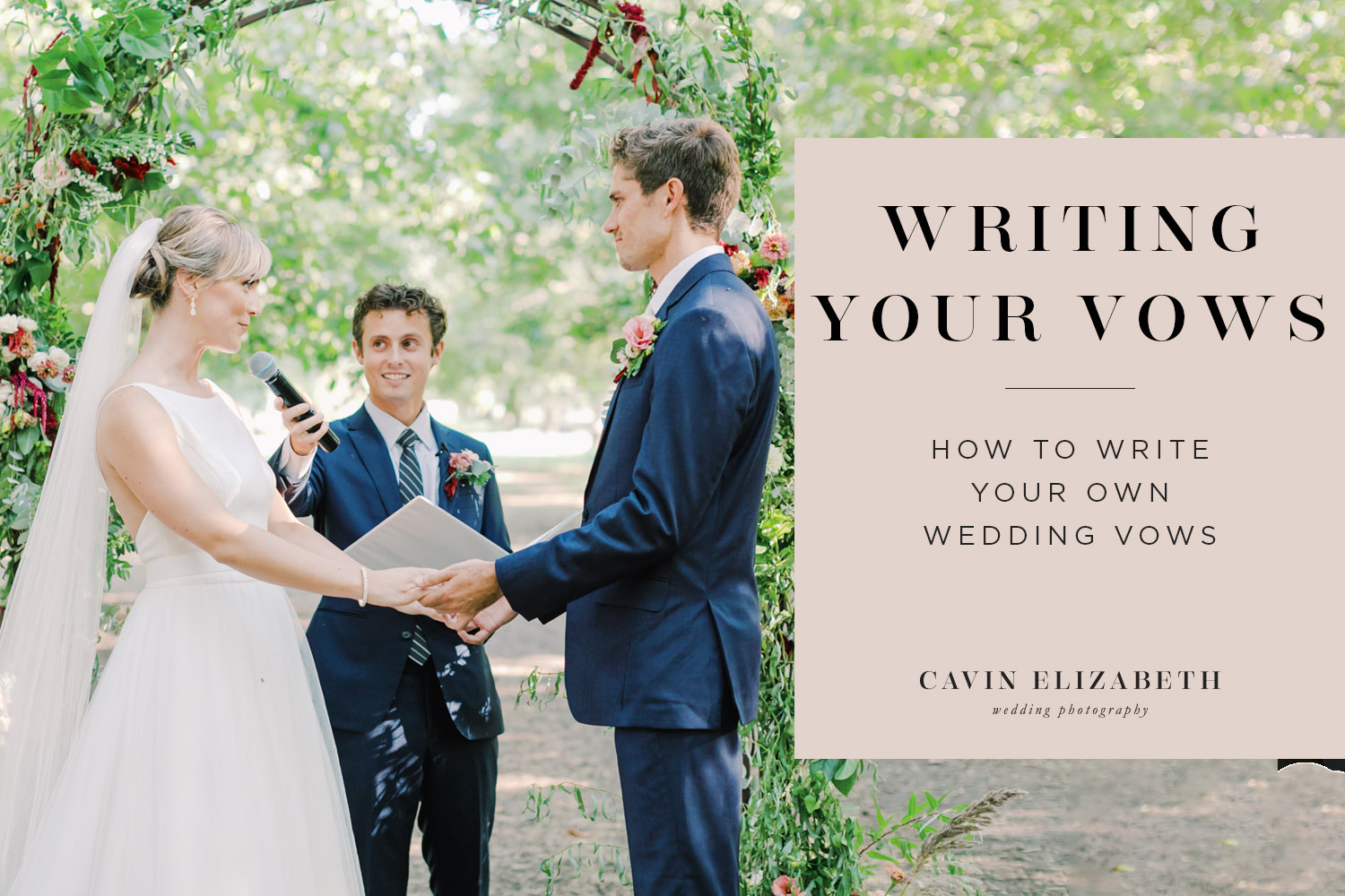 How to Write Your Own Wedding Vows by Beatrix Potter. Expert tips to help you personalize your wedding vows without stress!