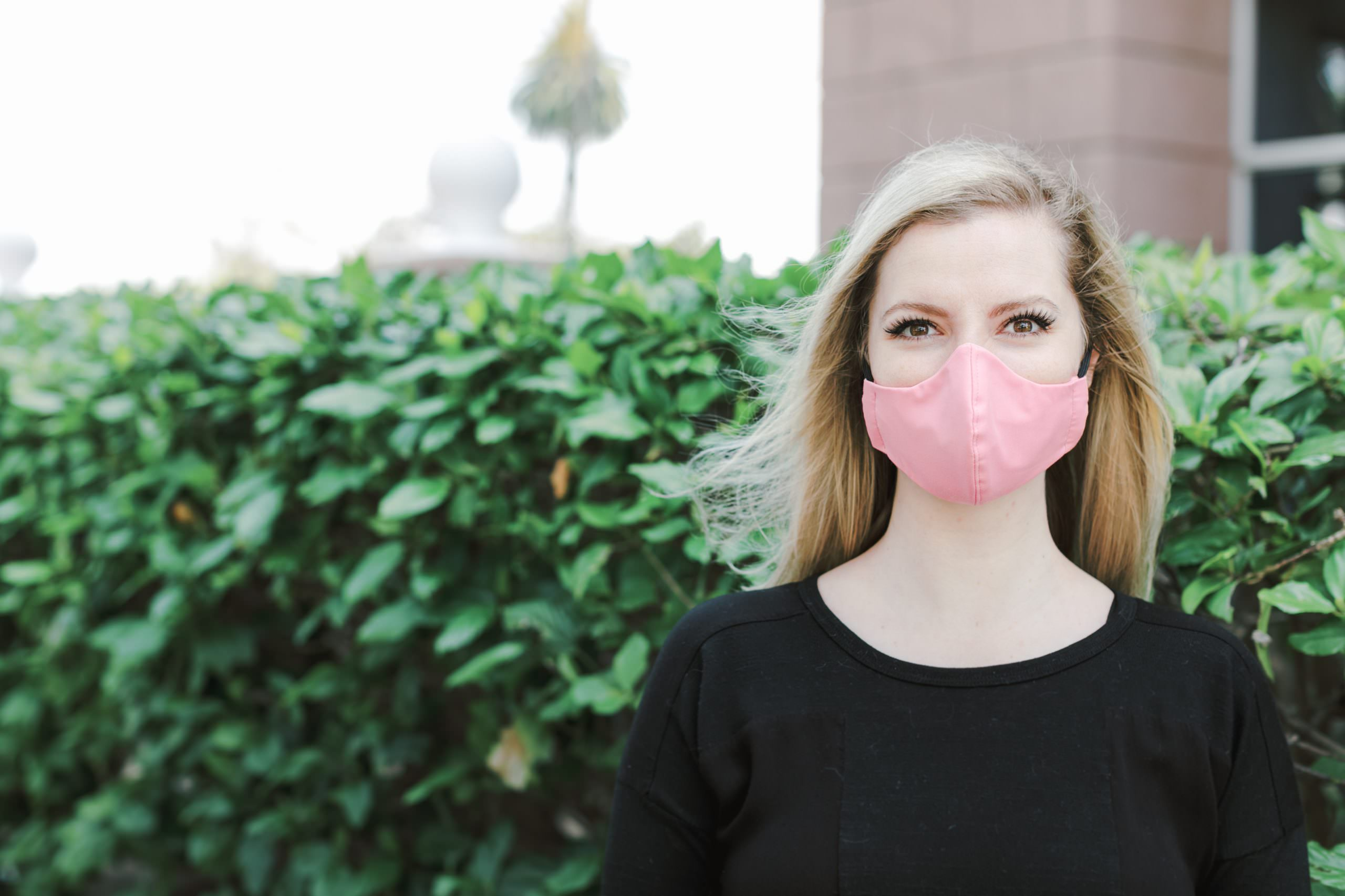 pink face mask in san diego