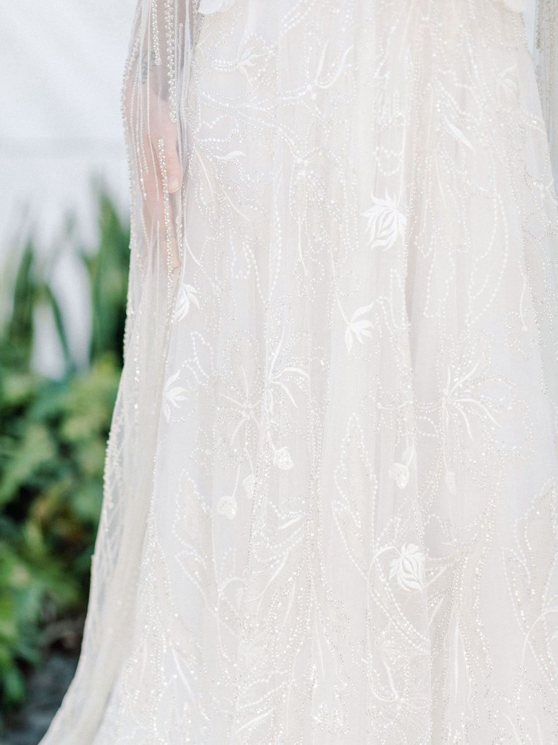 Neta Dover Camila - A Luxury Wedding Dress with floral beading. Cavin Elizabeth Photography