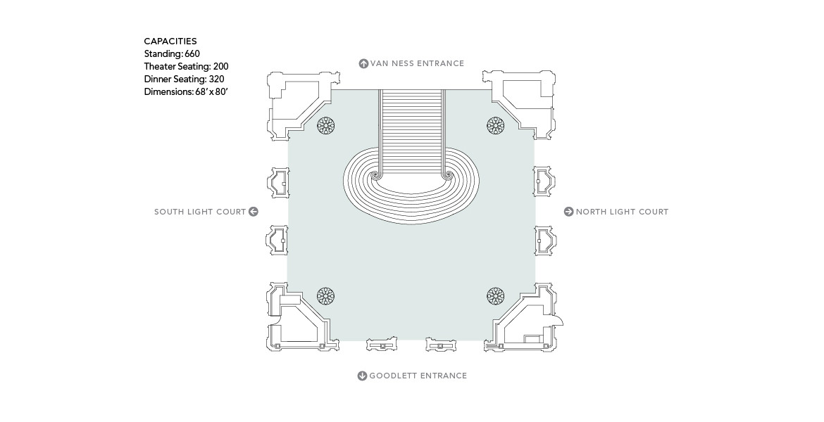 San Francisco City Hall wedding venue layout